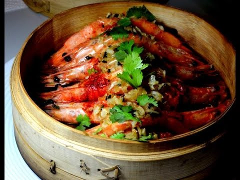 Dim Sum: Steamed Shrimps With Garlic Stuffing