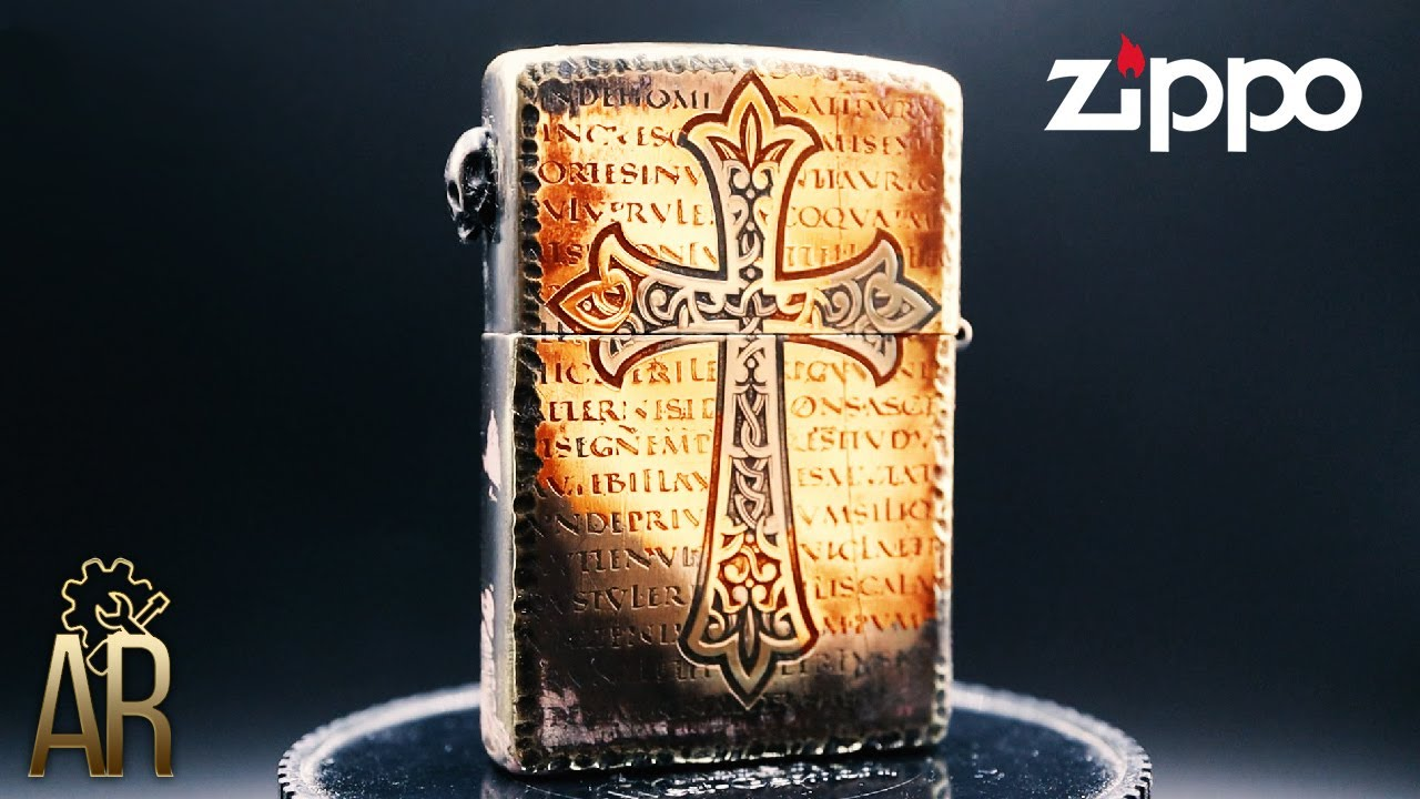 Zippo Lighter Rebuild into Cool Gothic Skull Edition