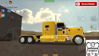 Grand truck simulator un viaje con el peterbilt y caja de plataforma con el skin de CAT. 🚛🇲🇽