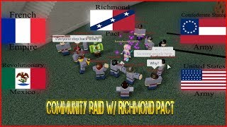 Community Raid With CSA/RM/AFE/TFA 100 MEN RAID! - [Roblox] Flag Raid