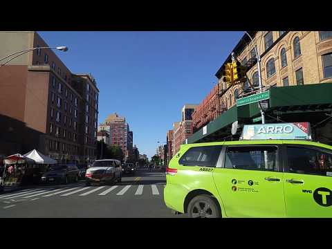 Driving by Morningside Heights in Manhattan,New York