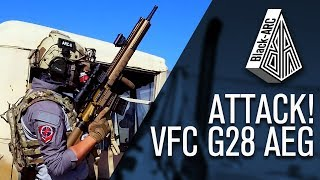 VFC G28 AEG ATTACK | Black_Arc Airsoft | Gameplay | Code Red Airsoft Park