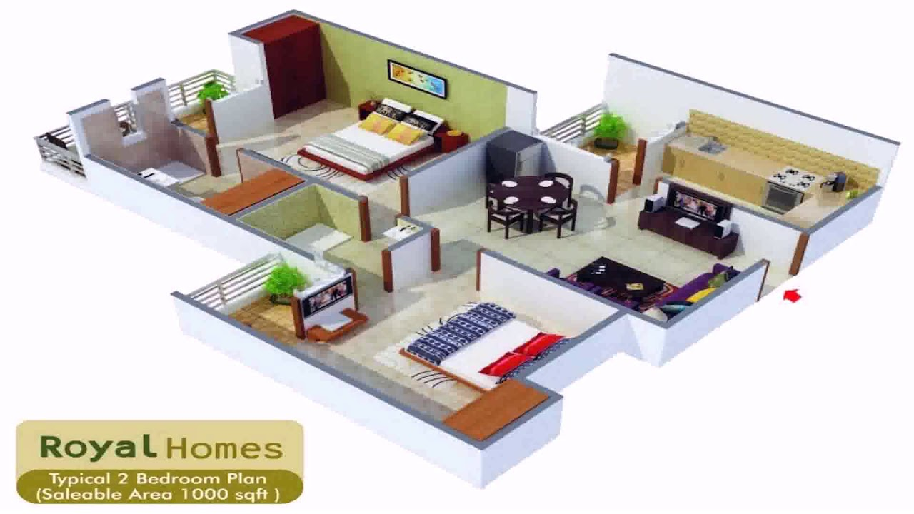 House plans 1200 sq ft 2 bedroom youtube for Square house plans 2 bedroom