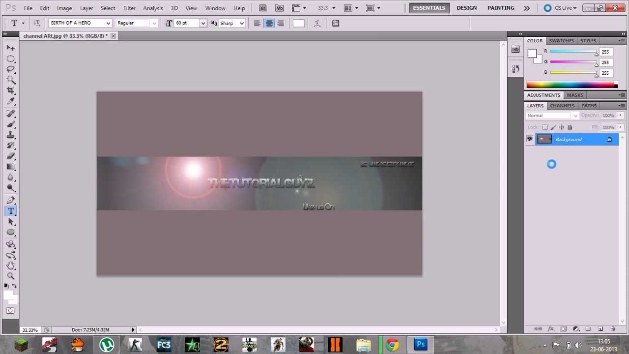 How to Create Channel Art using Photoshop CS5 - YouTube