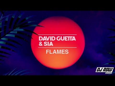 David Guetta - Flames (Lyric/Lyrics Video) Ft. Sia