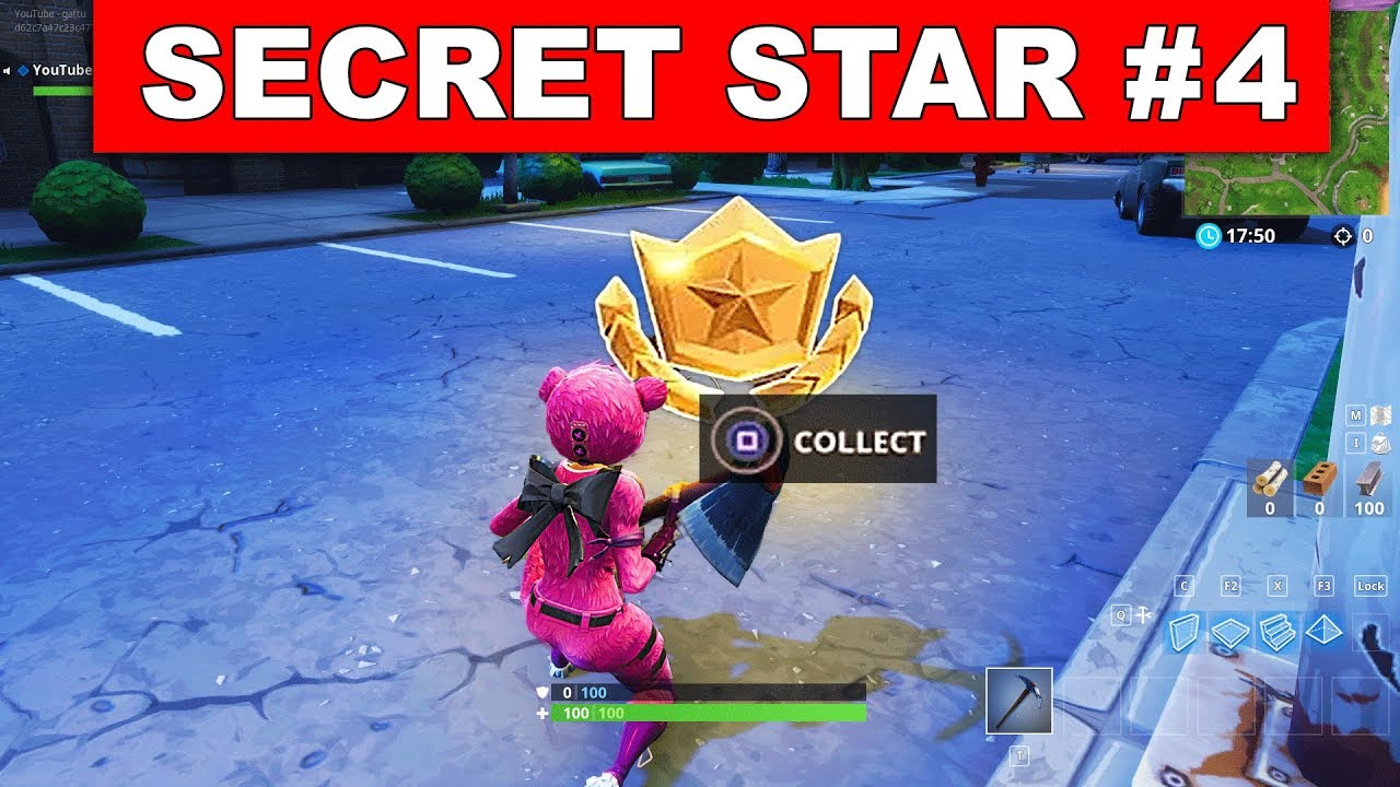 SECRET BATTLE STAR WEEK 4 SEASON 5 LOCATION! - Fortnite Battle Royale (Road  Trip Challenges)