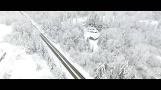 Phantom 4 drone snow practice