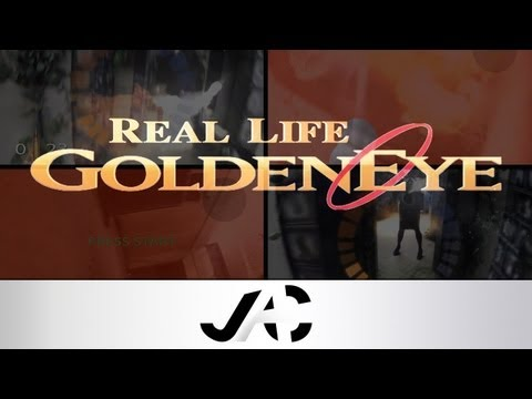 Real Life GoldenEye N64 Multiplayer