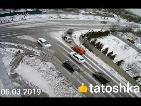 ДТП на Рогачёвском шоссе г.Лобня 2019. Видео с камеры наблюдения