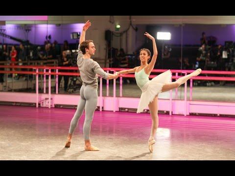 Yasmine Naghdi and Matthew Ball rehearse The Sleeping Beauty (The Royal Ballet)