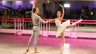 Yasmine Naghdi and Matthew Ball rehearse The Sleeping Beauty (The Royal Ballet)
