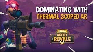 Video Dominating With New Thermal Scoped AR!! - Fortnite Battle Royale Gameplay - Ninja & Daequan download MP3, 3GP, MP4, WEBM, AVI, FLV Juni 2018