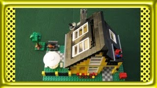 lego creator beach house stop motion build review 4996
