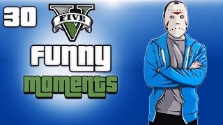 GTA 5 Online Funny Moments Ep. 30 (Sliding Monkey, Launch Glitch, Fisherman Returns)