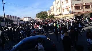 عاجل: أكبر مظاهرة بالمغرب سلا لفائدة التلاميذ