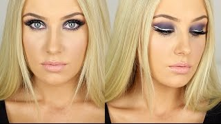 SUPER GLAM - Purple/Pink Smokey Eye + Glitter Winged Liner! Thumbnail