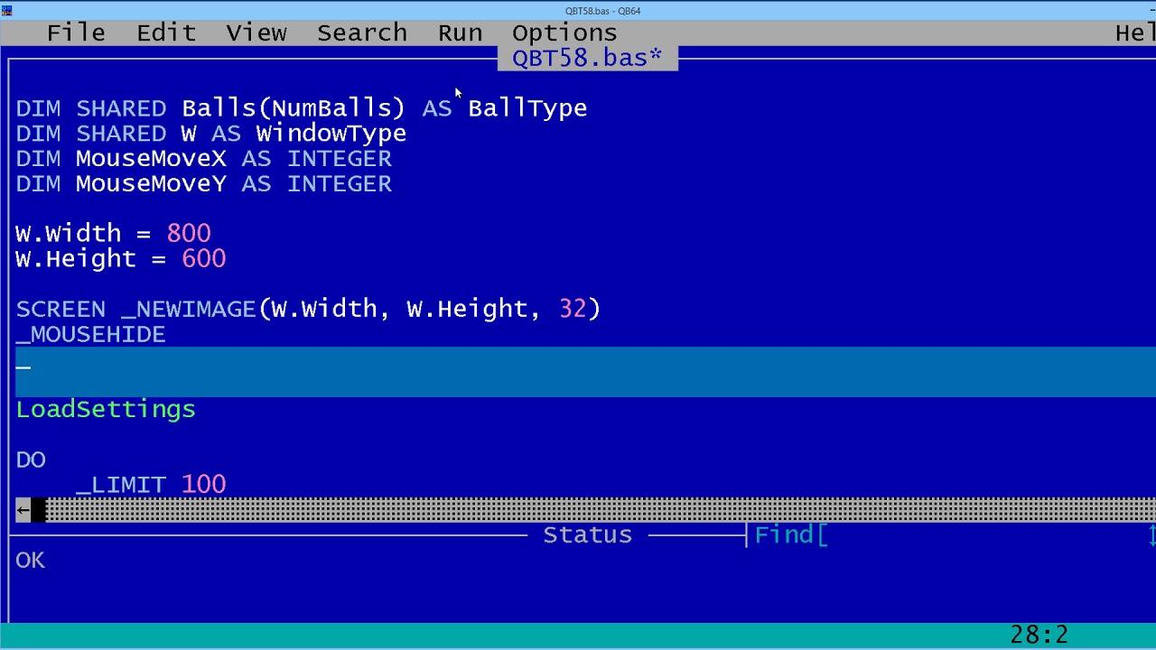 QBasic Tutorial 58 - Making A Screen Saver For Windows - QB64