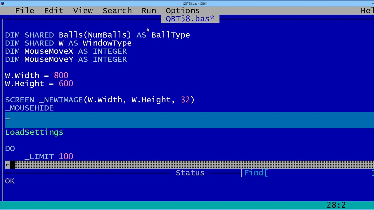 QBasic Tutorial 58 - Making A Screen Saver For Windows ...