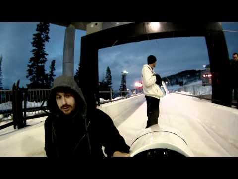 The Comet Bobsled Run with GoPro Helmet Cam Park City Utah