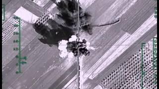 Уничтожение российской авиацией колонны большегрузных автомобилей с боеприпасами в р-не АЛЕППО