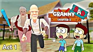 Bad Granny Chapter Two Act 1 - Android Game | Shiva and Kanzo Gameplay