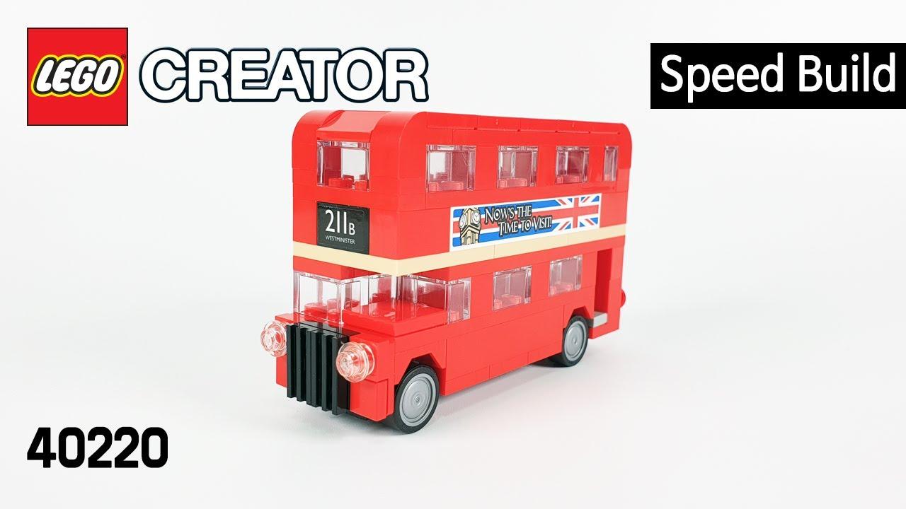 레고 크리에이터 40220 런던 버스(Creator London Bus) - 스피드빌드_Speed Build_레고매니아_LEGO Mania