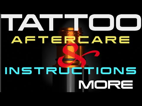 Tattoo Aftercare Instructions For Clients Youtube