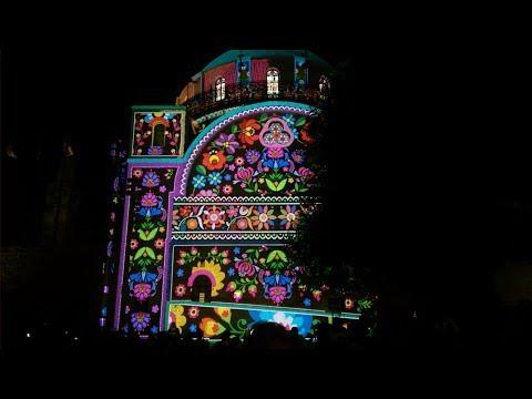 INCREDIBLE moving hologram on Jerusalem Synagogue! Light Festival Jerusalem 2017