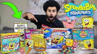I Bought EVERY SPONGEBOB SQUAREPANTS Board Game EVER MADE!! *OPENING AND PLAYING THEM ALL!!*