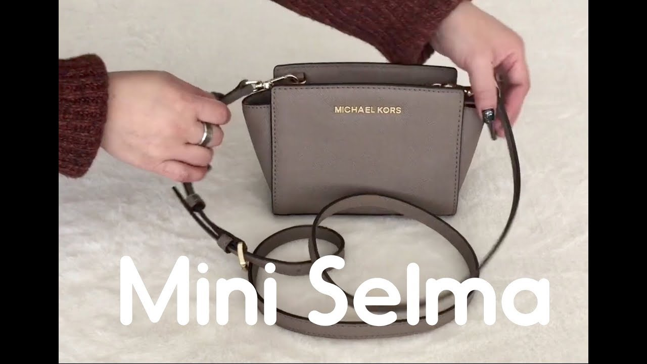 6 Ways to Carry / Style Michael Kors Mini Selma Bag | How to Shorten Chain  Strap