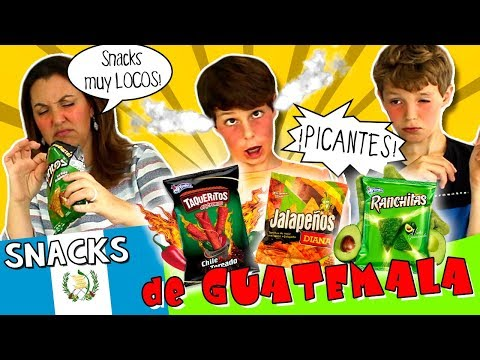 PROBANDO snacks de GUATEMALA... 🇬🇹 ¡¡PICANTES!!! 🌶💥 Ranchitas, JALAPEÑOS, Taqueritos,  ¡y MÁS!