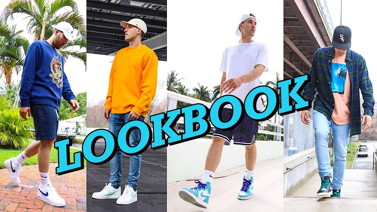 SPRING LOOKBOOK - HOW TO STYLE SNEAKERS IN THE SPRING - 10 MENS FASHION OUTFIT IDEAS