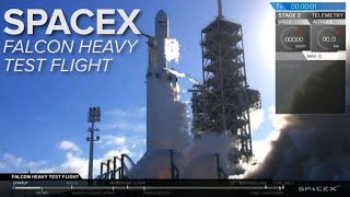 Watch the SpaceX Falcon Heavy rocket test flight