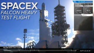 Watch the entire SpaceX Falcon Heavy rocket test flight