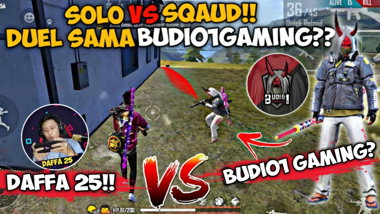 SOLO VS SQUAD!! DUEL SAMA BUDI01 GAMING!?ASLI ATAU KW NIH?? FREE FIRE INDONESIA