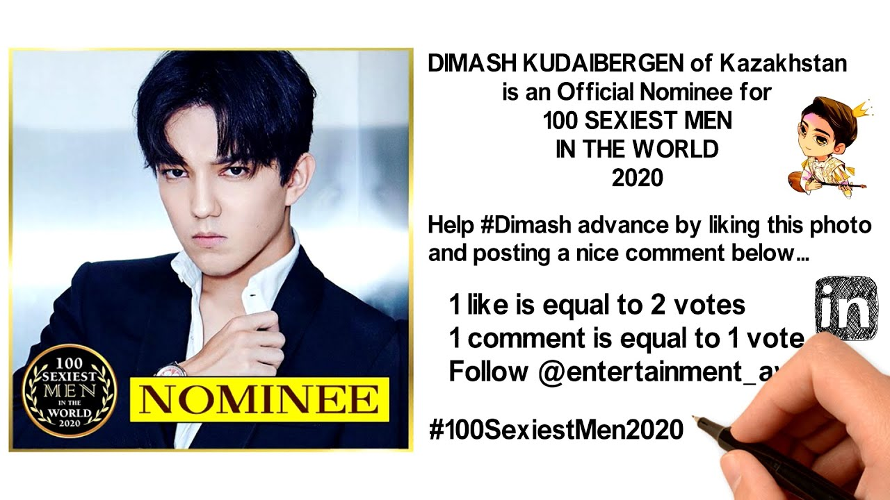 DIMASH KUDAIBERGEN of Kazakhstan is an Official Nominee for 100 SEXIEST MEN IN THE WORLD 2020!