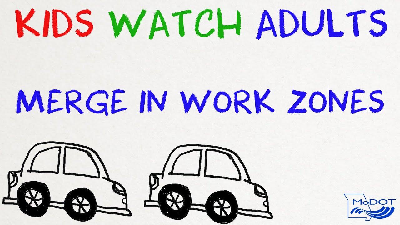 Zipper Merge Kids Adults In Cardboard Cars And Taking Turns Youtube