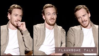 FASSBENDER on how FAME changed his life, IF HE BELEIVES IN 👽 ALIENS and shooting ⛄ in Norway.