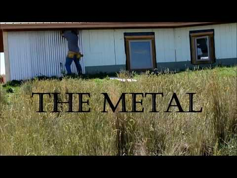 DIY - Corrugated Metal Siding Install (ICF) Off Grid Homestead - Part 1 The Metal