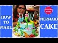 Mermaid cake design ideas:The Little mermaid theme cake:how to make mermaid tails with fondant