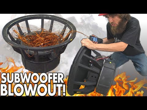 """Blowing $8000 Worth of SUBWOOFERS!?! The BIGGEST Subwoofer BLOWOUT EVER w/ Rare 18"""" SPEAKER BLOWOUTS - 동영상"""