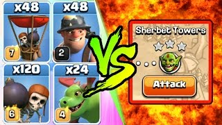 Clash Of Clans | 1 TROOP TROLL CHALLENGE FEATURING NEW TROOPS!! | INSANE GAME PLAY 2016!