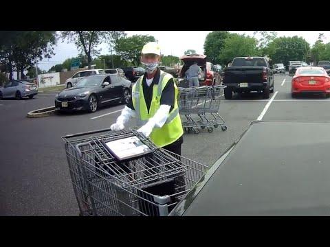 Shopping Cart Pusher Can't Stop Hitting Cars