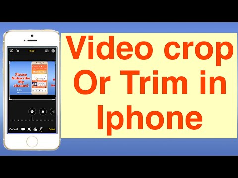 How to crop/ resize Video by iPhone//