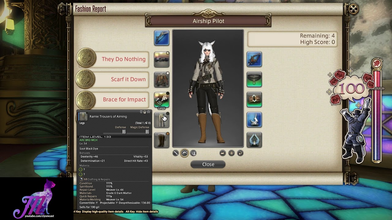 FFXIV: Fashion Report Friday - Week 17 - Theme : Airship Pilot by Meoni