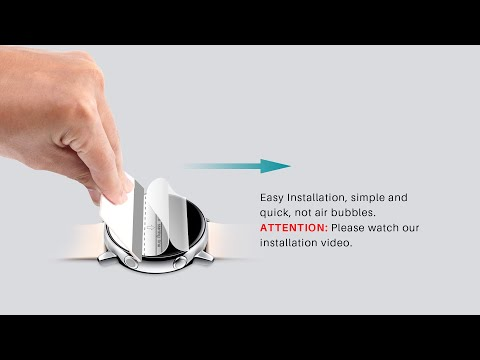 LK flexible film Screen Protector installation video for Smart watch