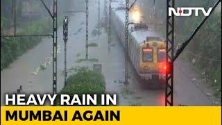 Heavy Overnight Rain In Mumbai, Tracks Flooded, Trains Delayed