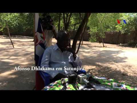Afonso Dhlakama falou aos jornalistas em Satunjira
