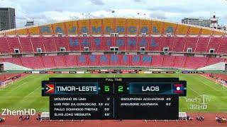 Timor Leste u16 vs Laos u16 (5-2) Full Highlights HD