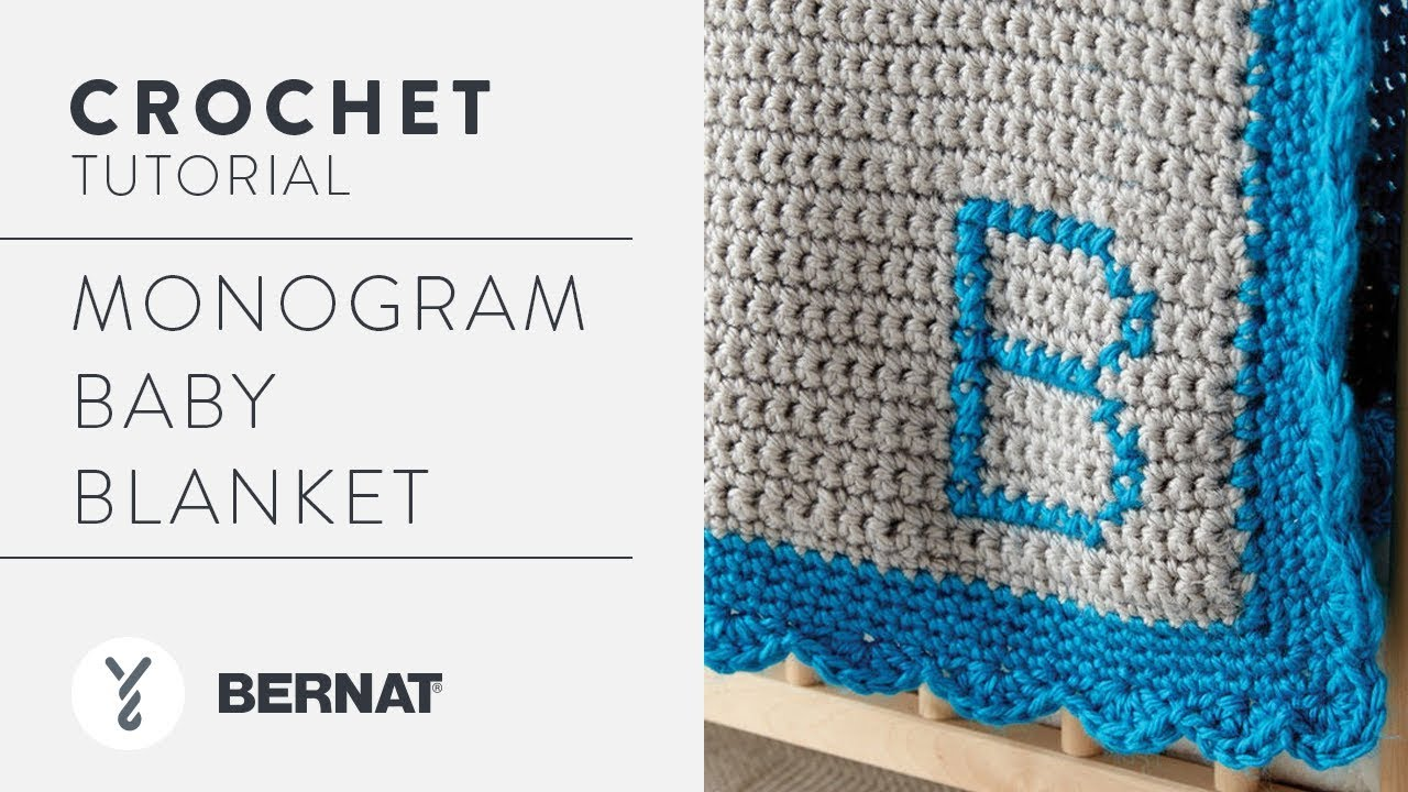 Crochet A Blanket Monogram Baby Blanket Youtube